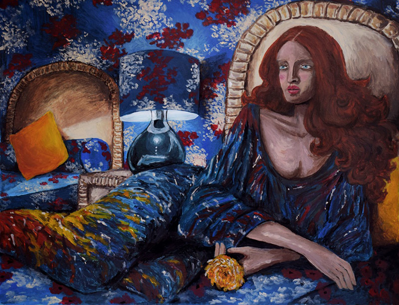 Woman In The Blue Room
