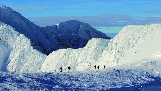 Salendo al Vesle Smeden, una montagna di oltre 2000 metri (ph. M. Tomaselli)