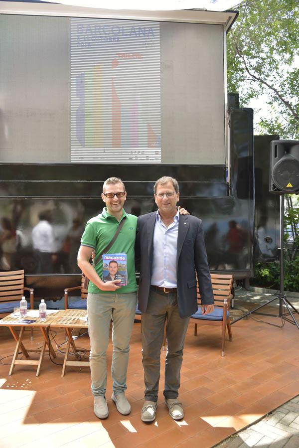 Andrea Doncovio e il general manager di Barcolana, Claudio De Martis (ph. Claudio Pizzin)