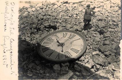 Monfalcone, l'orologio del campanile abbattuto nel luglio 1916 (ph. A.V. Spanghero)