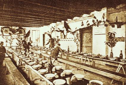 Joannis, 1916. Baracche per la refezione (foto Archivio Circolo Brandl - Turriaco)