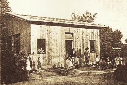 Cervignano, 1916. Baracca per asilo infantile (ph. Archivio Circolo Brandl - Turriaco)