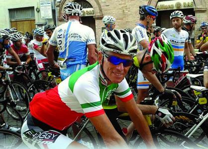 Luciano Livon prima della partenza di una gara