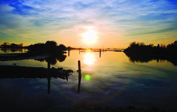 Tramonto sulla laguna di Marano (ph. Terre di Aquileia)