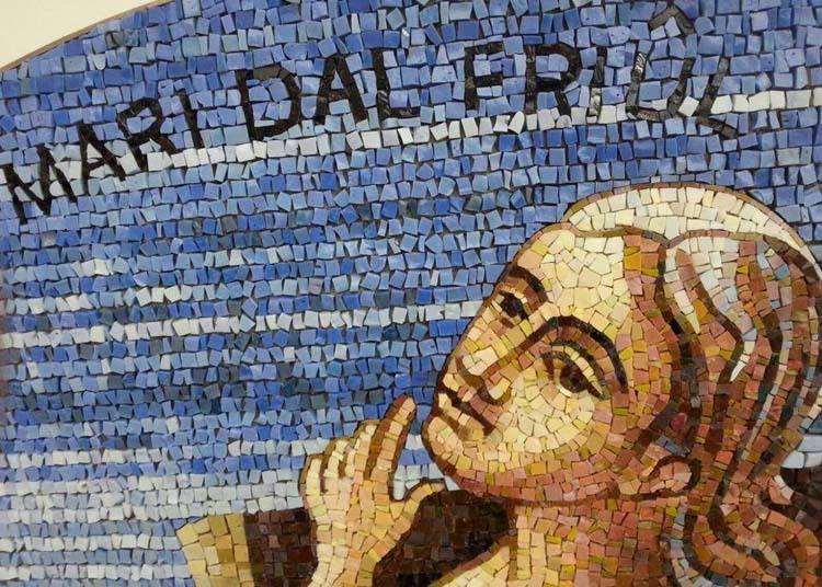 Particolare del mosaico realizzato