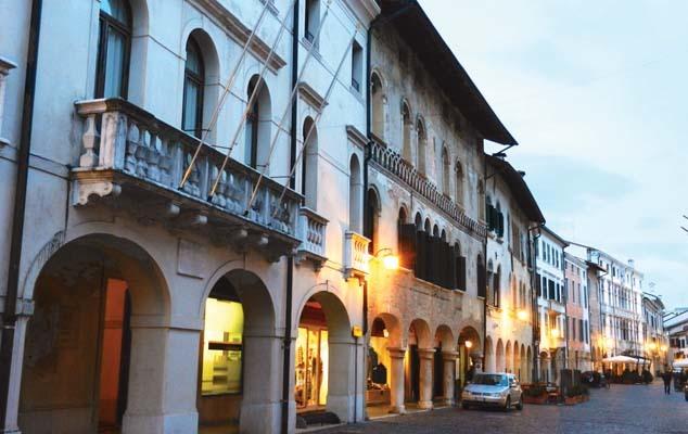 Pordenone, la facciata di Palazzo Mantica, dove Fortunio si è formato culturalmente (ph. V. Veronesi)
