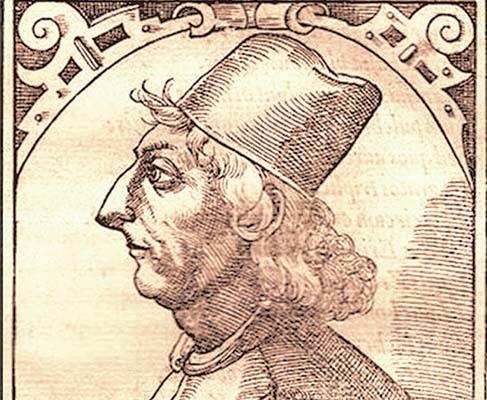 Ritratto di Marcantonio Sabellico, maestro di Giovanni Francesco Fortunio (di cui non ci è giunta alcuna immagine)