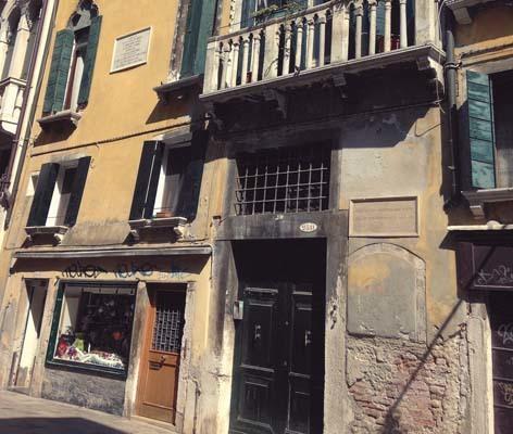 Venezia, nei pressi di campo S. Agostin: l'edificio in cui si ritiene che ci fosse la stamperia di Aldo Manuzio (ph. V. Veronesi)