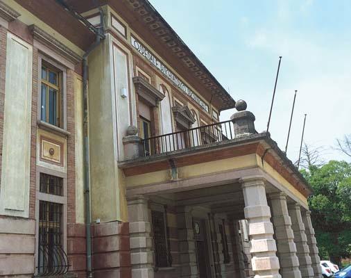 Un particolare del vecchio Ospedale ora adibito a centro direzionale