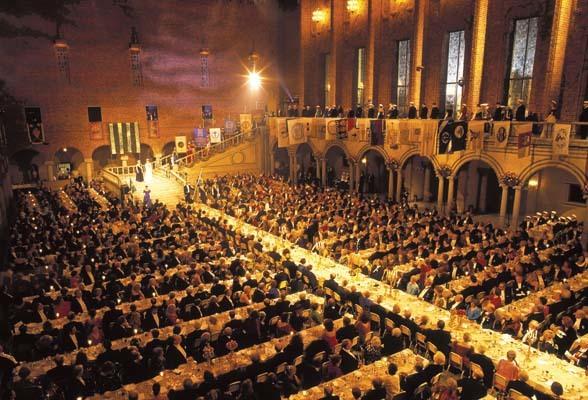 Il banchetto in occasione della consegna dei Premi Nobel (ph. Jeppe Wikstrom)