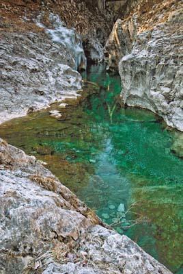 Una pozza del torrente Arzino (ph. Igino Durisotti)