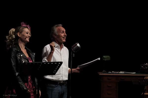 Giorgia Salari e Marco Travaglio (ph. Roberto Baglivo)