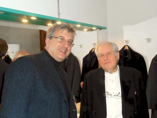 Mansutti assieme al Maestro Grigory Sokolov (ph. Glauco Camoretto)