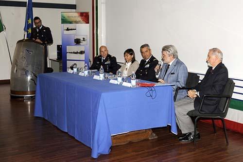 Le autorità intervenute alla conferenza stampa a Rivolto (ph. Aeronautica Militare)