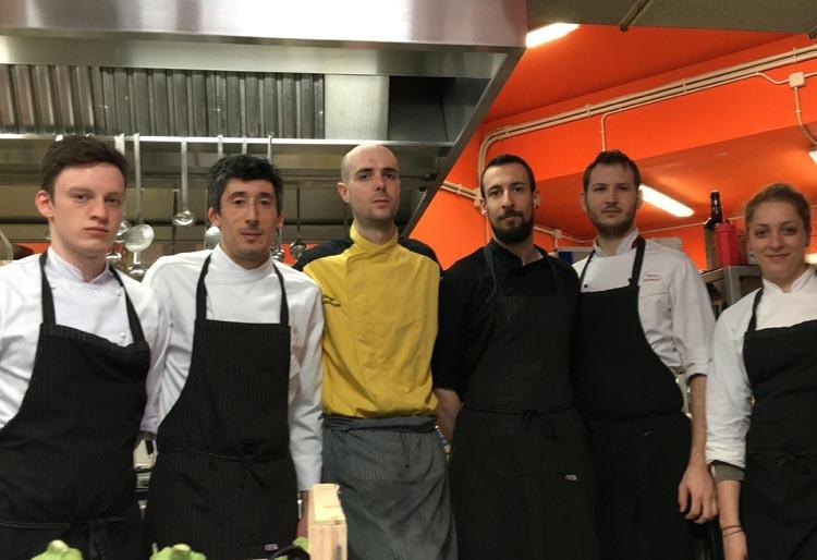 Gli chef di Al Fogolar/Là di Moret a Udine (ph. Studio Agorà)