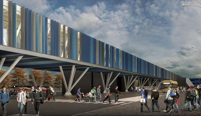 Come sarà la nuova passerella (ph. Trieste Airport)