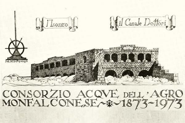 Cartolina commemorativa del primo centenario di costituzione del Consorzio Acque