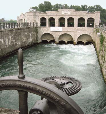 Presa e derivazione sull'Isonzo a Sagrado per il Canale Dottori