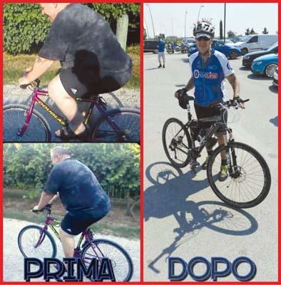Mauro Buoro prima (quando pesava 150 kg) e dopo