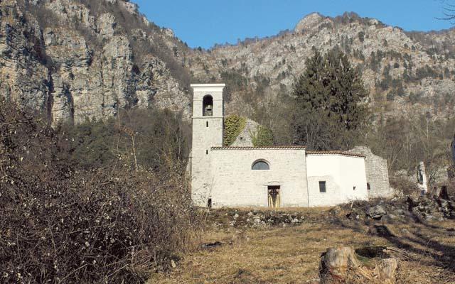 Palcoda, la chiesa intitolata a San Giacomo (ph. M. Tomaselli)