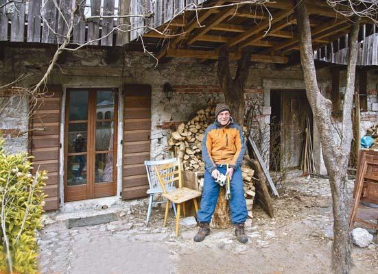 Pozzis, Markus di Monaco di Baviera ha comprato una casa che ha ristrutturato (ph. I. Durisotti)