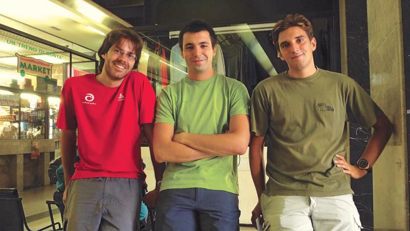 Da sinistra: Fabio Marson, Lorenzo Fortuna e Fabrizio Palombieri, tutti di 27 anni