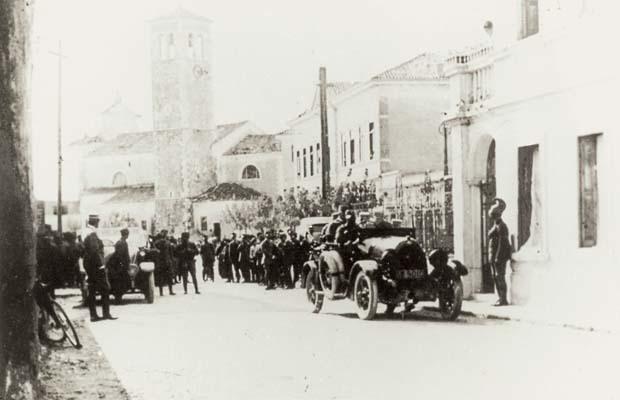 Turriaco, 9 maggio 1917, il Re a villa Mangilli