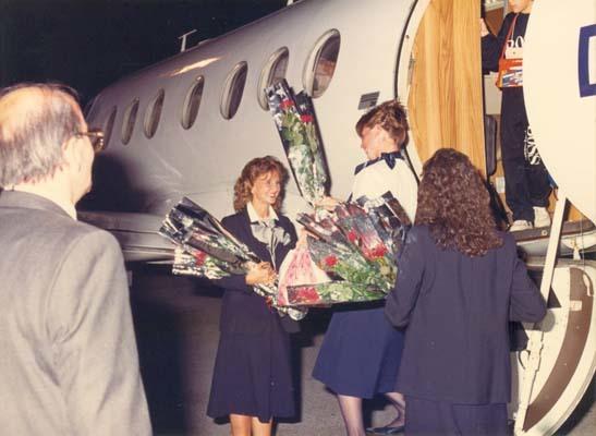 30 agosto 1987, il primo arrivo da Monaco di Baviera (ph. TSA)