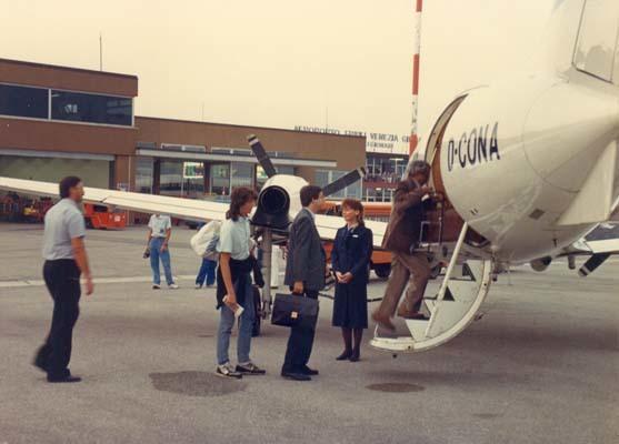 30 agosto  1987, il primo volo per Monaco di Baviera (ph. TSA)