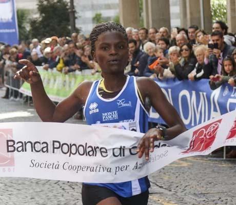 L'arrivo della vincitrice Moseti