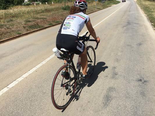 Elena in bici