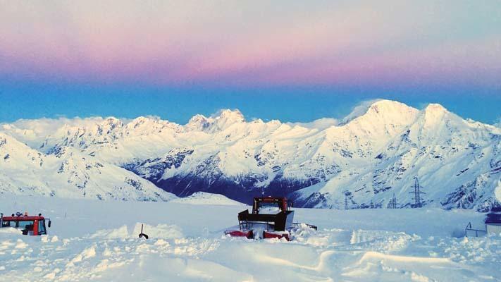 Panorama alle 5 di mattina sul Caucaso (ph. M. Tomaselli)