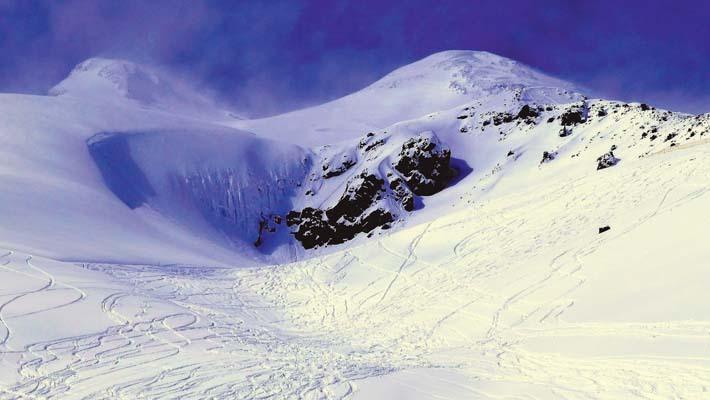 Una rara veduta dell'Elbrus