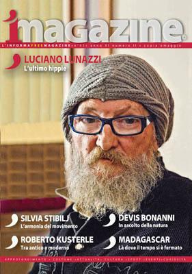 La copertina del numero 61 di iMagazine, dedicata a Luciano Lunazzi