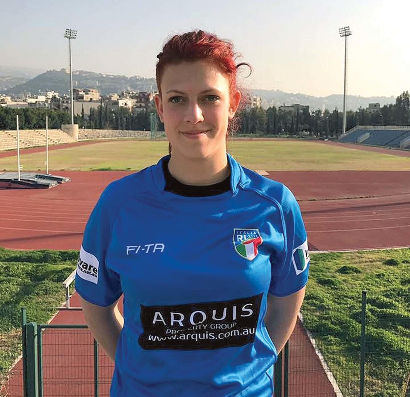 Silvia Capello con la maglia azzurra