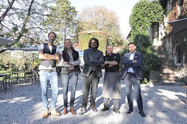 Borghese con i quattro ristoratori (ph. PromoTurismo FVG)