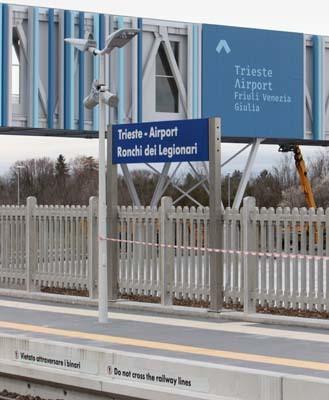 La nuova fermata di Trieste Airport