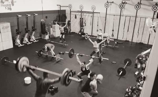 Gli atleti durante l'allenamento