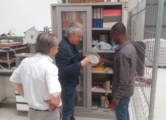 Mauro Bertagnin con il tecnico in formazione