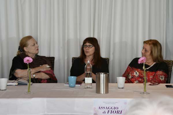 Da sinistra D'Aronco, Biasiol e Maura Pontoni (ph. Claudio Pizzin)