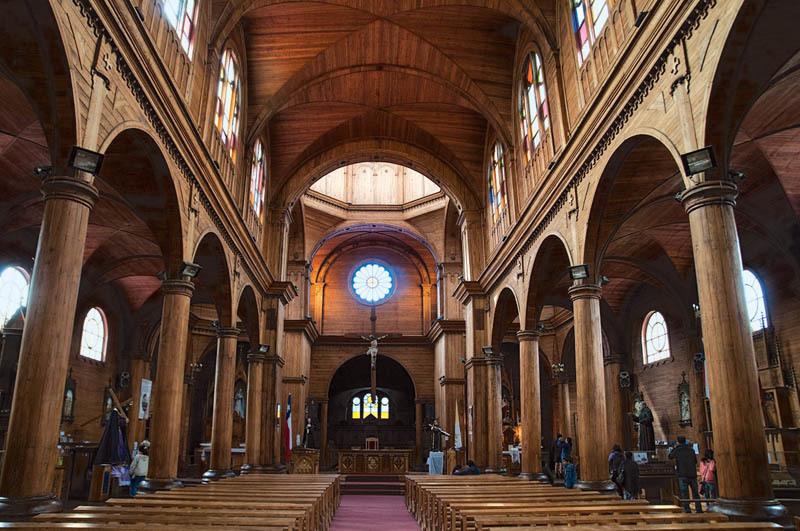 La chiesa di San Francisco presso l'isola di Chiloè (ph. C. Pizzin)