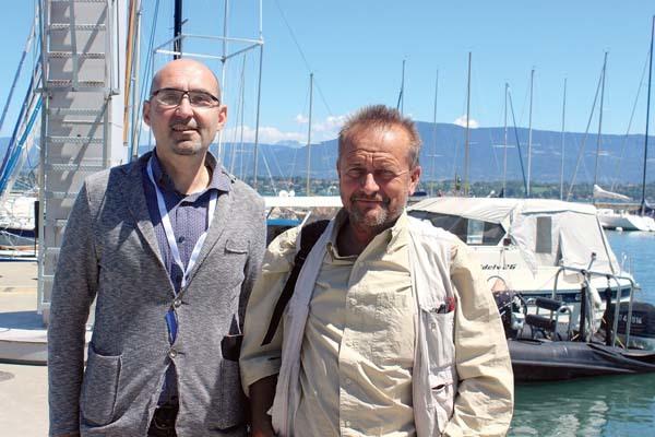 Michele Tomaselli, a sinistra, assieme al giornalista del Corriere della Sera Lorenzo Cremonesi