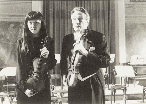 Mariko Masuda assieme al Maestro Franco Gulli
