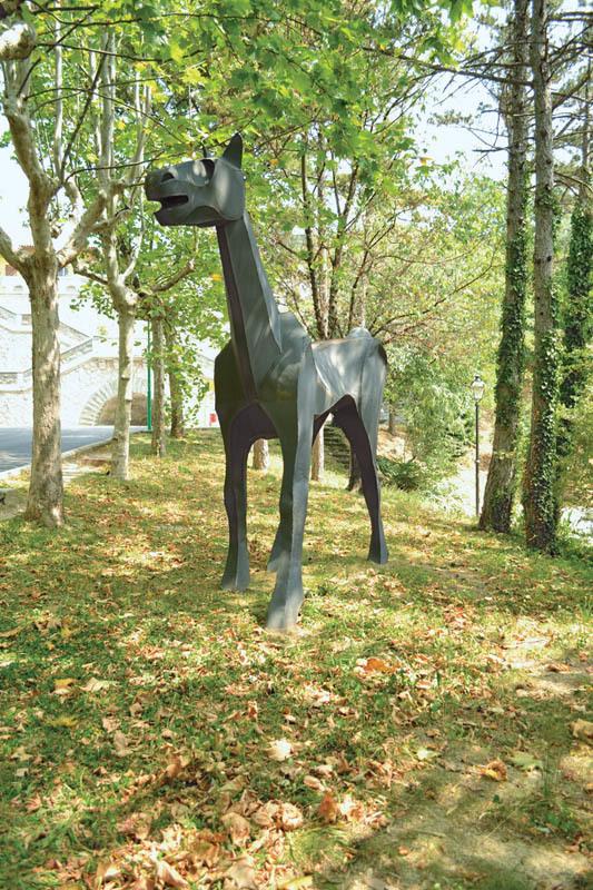 La riproduzione della statua di Marco Cavallo presso il Dipartimento di Salute mentale di Trieste