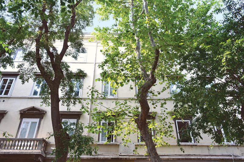 La casa natale di Italo Svevo a Trieste, in viale XX Settembre 16 (già Contrada dell'Acquedotto)