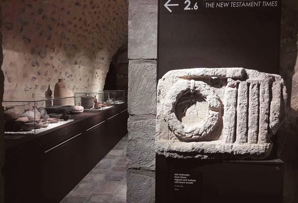 L'interno del Museo della Custodia francescana in Terra Santa a Gerusalemme