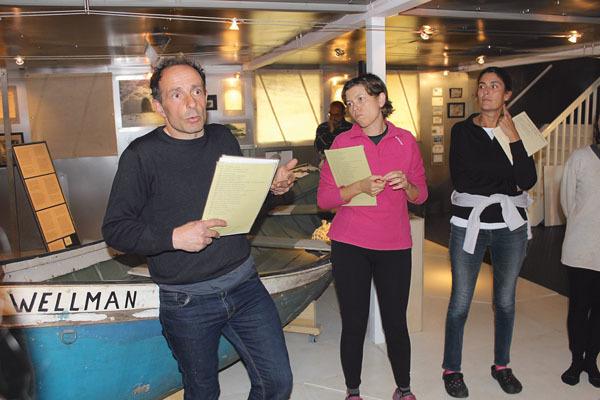 Il museo polare di Stefano Poli, a sinistra (ph. M. Tomaselli)