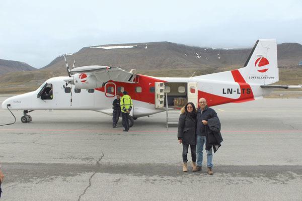 L'aereo Dornier per Ny Alesund (ph. M. Tomaselli)