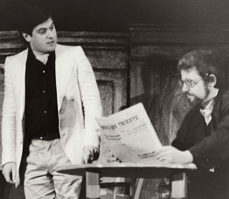 """Scaramuzza e Giglio Boemo in """"I mamuli del '23"""" (ph. Enzo Andrian)"""