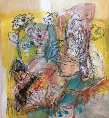 B. Cepellotti, I fiori di Marina, tecnica mista, 60x70 cm (ph. Michele Tomaselli)